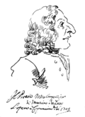 Caricature of Vivaldi, Pier Leone Ghezzi.