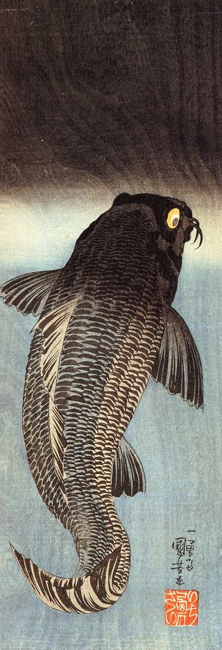 Kuniyoshi Utagawa, Black carp 1.